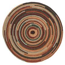 braided round area rug