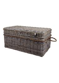 m500401 hand woven rattan storage chest