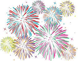 new years fireworks white background. Throughout New Years Fireworks White Background Colourbox