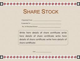 Shareholder Certificate Template 40 Free Stock Certificate Templates Word Pdf Template Lab