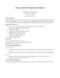 Entry Level Objective Resume Resume Of Bank Teller Bank Teller