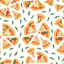 repeating pizza background. Brilliant Background Seamless Pattern With Assorted Pizza Slices Illustration Repeating  BackgroundCartoon Style Stock Vector Throughout Pizza Background A