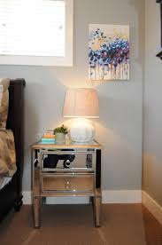 Mirrored Night Stands Bedroom Interior Awesome Mirrored Nightstand Design And Beds Plus Grey
