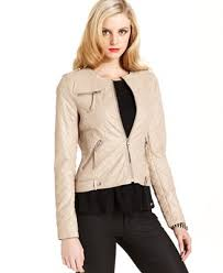GUESS Jacket, Quilted Faux-Leather Motorcycle - Jackets - Women ... & GUESS Jacket, Quilted Faux-Leather Motorcycle Adamdwight.com