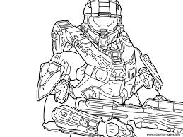 Small Picture Halo 5 Free Coloring Pages Printable