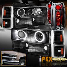 97 gmc sierra tail lights 94 98 gmc sierra c1500 c2500 halo projector led black headlight tail light 10pcs