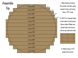 diy round outdoor table. 70 Inch Circlular Table Top - Assembly Diy Round Outdoor F