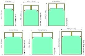 Standard Queen Size Bed Frame Dimensions Australia Width Of