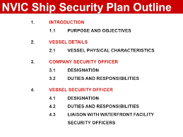 security officer duties and responsibilities nvic vessel security plan outline ppt download