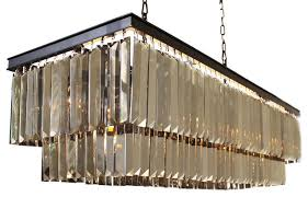 d angelo 40 smoked mirrorred prism fringe crystal chandelier