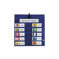 Classroom Assignment Chart Carson Dellosa Job Pocket Chart W 14 Assignment Cards