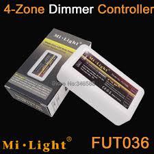Mi Light Fut036 Us 7 5 15 Off Fut036 Mi Light 2 4g Rf Wireless Wifi Compatible 4 Zone Brigtness Adjustable Led Dimmer Controller For Single Color Strip Light In Rgb
