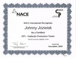 NACE Cathodic Protection Tester (CP1) Cert