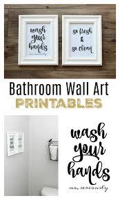 bathroom wall art free printables to