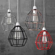 vintage industrial style wire cage light shades 4 options