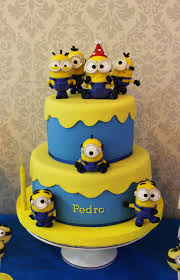Minion cake at a Despicable Me birthday party! See more party planning ideas  at
