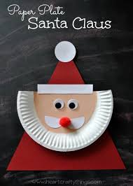 ... forward to making a Santa Craft with my preschooler. Using a paper plate  and our handy Elmer's Early Learners Glue made this one so simple and  adorable!