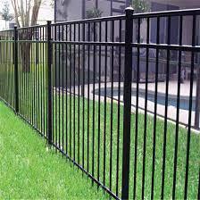 powder coated wrought iron fence panel