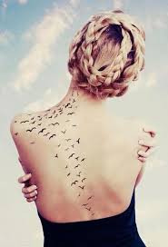 birds tattoo on back. Perfect Back Black Back Birds Tattoo For Birds Tattoo On Back