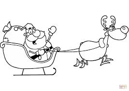 Kerstman Met Rendier Kleurplaat Gratis Kleurplaten Printen