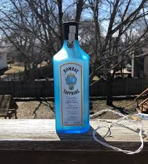 Man Cave String Lights Bombay Sapphire Bottle Light Frosted Man Cave Gift