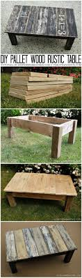 Pallet Wood Stenciled Table