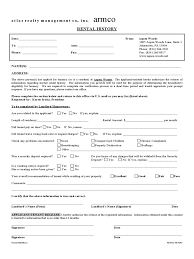 Word Rental History Form Template Rental Verification Form Resume