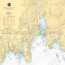 Connecticut Niantic Bay East Lyme Nautical Chart Decor