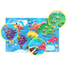 Magnetic Travel Map World With Pins Tocinc