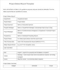 Sample Project Status Report Template 10 Free Word Pdf Documents