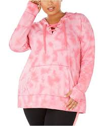 Id Ideology Size Chart Plus Size Tie Dyed Lace Up Hoodie Created For Macys