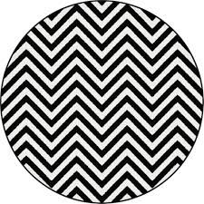 black and white chevron round area rugs for contemporary flooring
