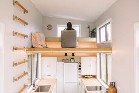 tiny home office. Access To The Millennial Tiny House\u0027s Loft Office Is Gained By Ladder Integrated Into Wall Home E