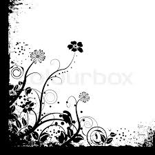 white backgrounds with designs. Simple Designs Floral Black And White Mono Background Design With Copy Space  Stock  Vector Colourbox For White Backgrounds With Designs