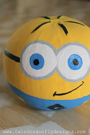 Painted Minion Pumpkins Three Unique Pumpkin Decorating Ideas Dragonfly Designs