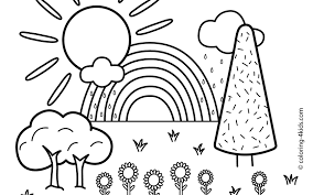 Nature Scenery Colouring Pages Stirring Coloring For Adults Natural
