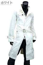 white long coat mens trench coat long length business casual formal mens white trench coat uk
