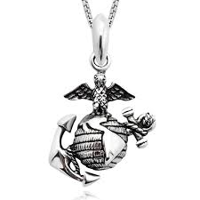sterling silver eagle globe anchor