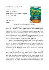 Tugas B.Indonesia Resensi Novel Judul buku : Perahu Kertas Penulis :  Dee/Dewi