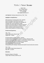 Title 1 Tutor Sample Resume Gallery Of Resume Samples Title 24 Tutor S Sevte 1