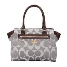 Coach Bleecker In Signature Medium Grey Satchels BUQ Outlet Online