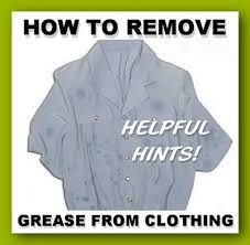 how to remove grease sns from clothes