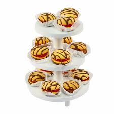 cake stand wooden cupcake fruit display white 3 tier