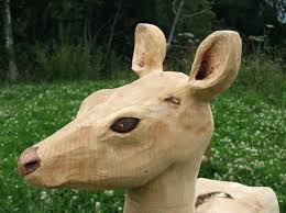 garden animals. Life Size Garden Animals Sculpture Wooden Deer Resin U