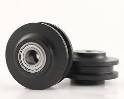 1 of 3 barn door hardware track wheels rollers pair