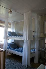 Love the curtains around each bunk bed. Gives each person the option of  privacy. | For the kiddies | Pinterest | Bunk bed, Bedrooms and Space saver