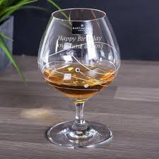 personalised dartington glitz brandy glass in gift box product image