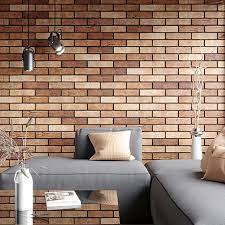 melo orange rustic brick effect wall