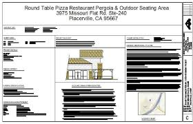 this is a new design build outdoor covered seating area for the roundtable on missouri flat rd in placerville jvp construction did the carpentry