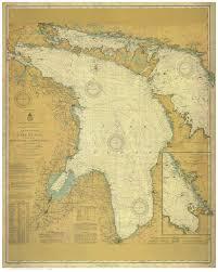 Amazon Com Lake Huron 1910 Nautical Map Custom Print